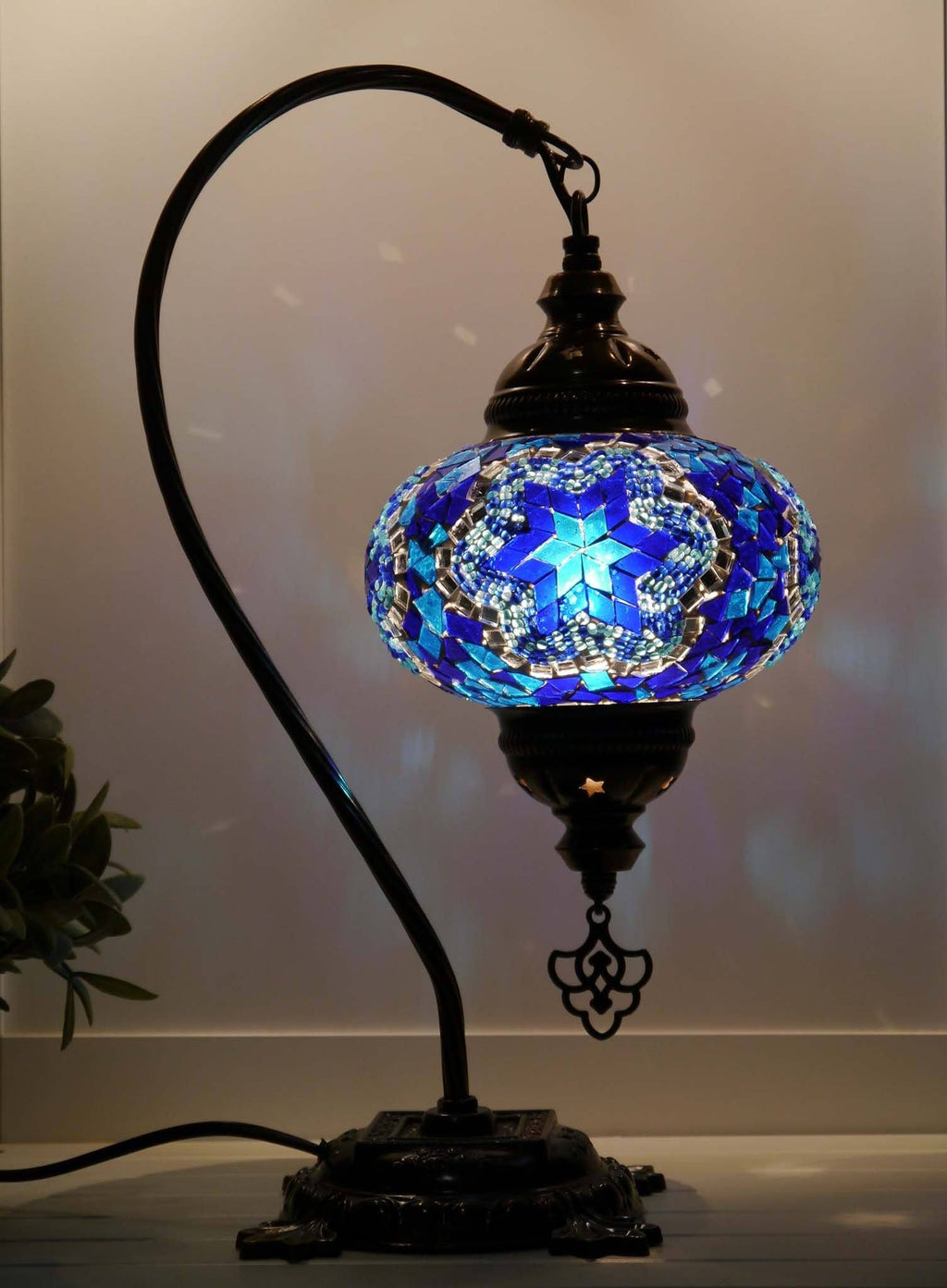 Turkish Lamp Mosaic Blue Star Lighting Sydney Grand Bazaar