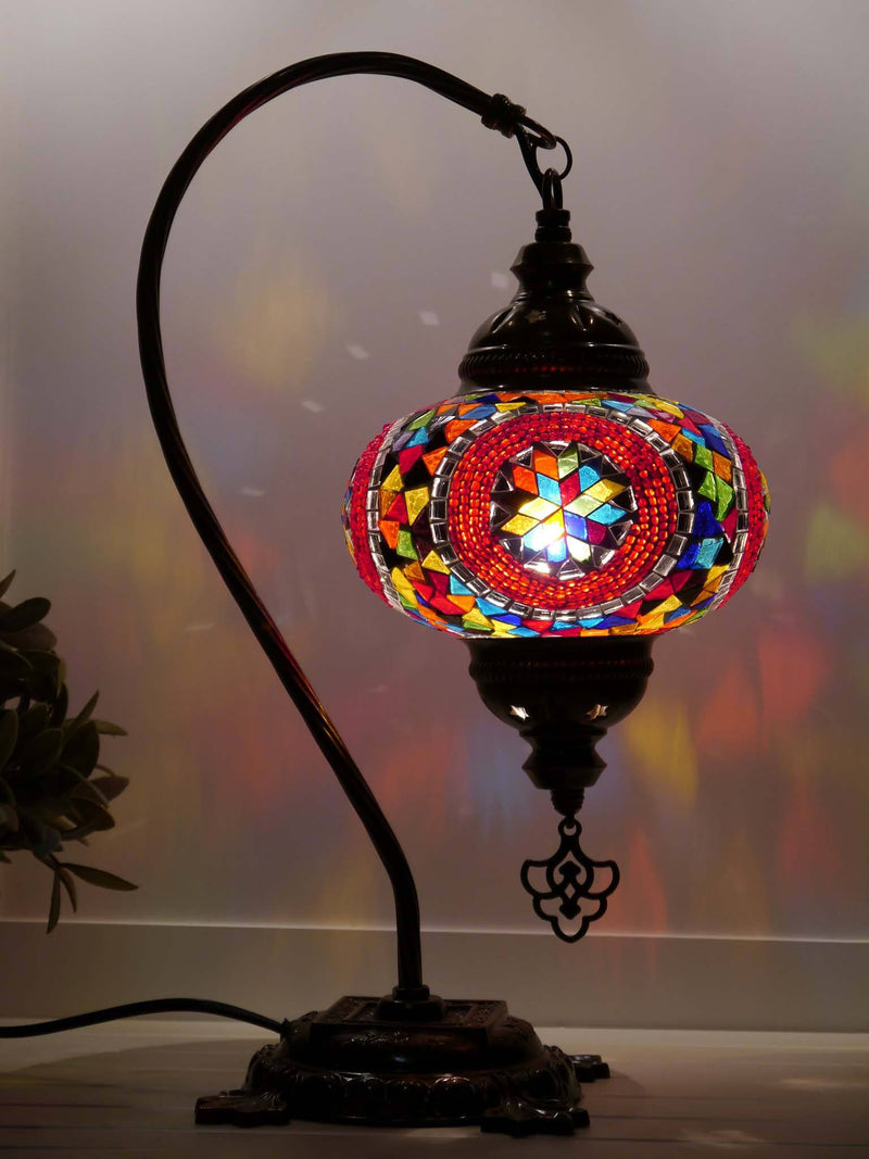Turkish Lamp Multicoloured Mix Round Lighting Sydney Grand Bazaar