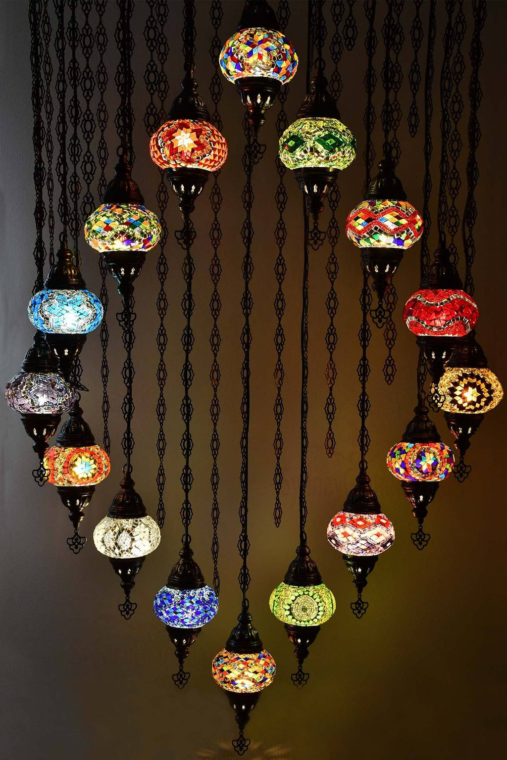 Turkish Mosaic Chandelier Light 16 Globes Lighting Sydney Grand Bazaar