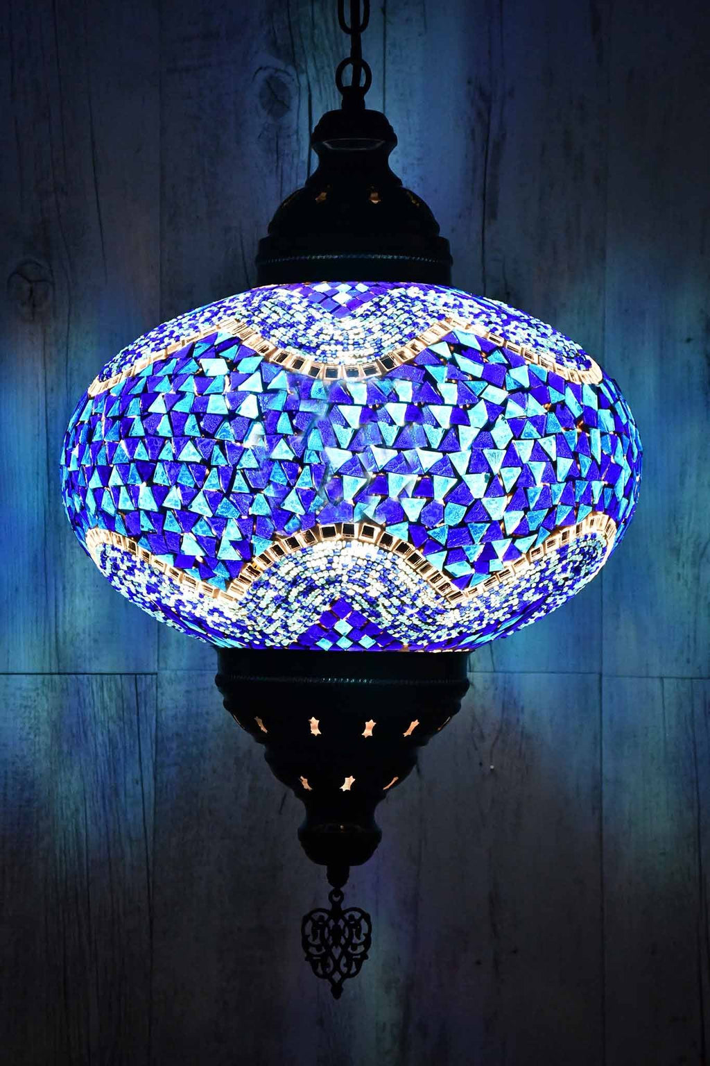 Turkish Pendant Light Blue Mosaic B5 Lighting Sydney Grand Bazaar
