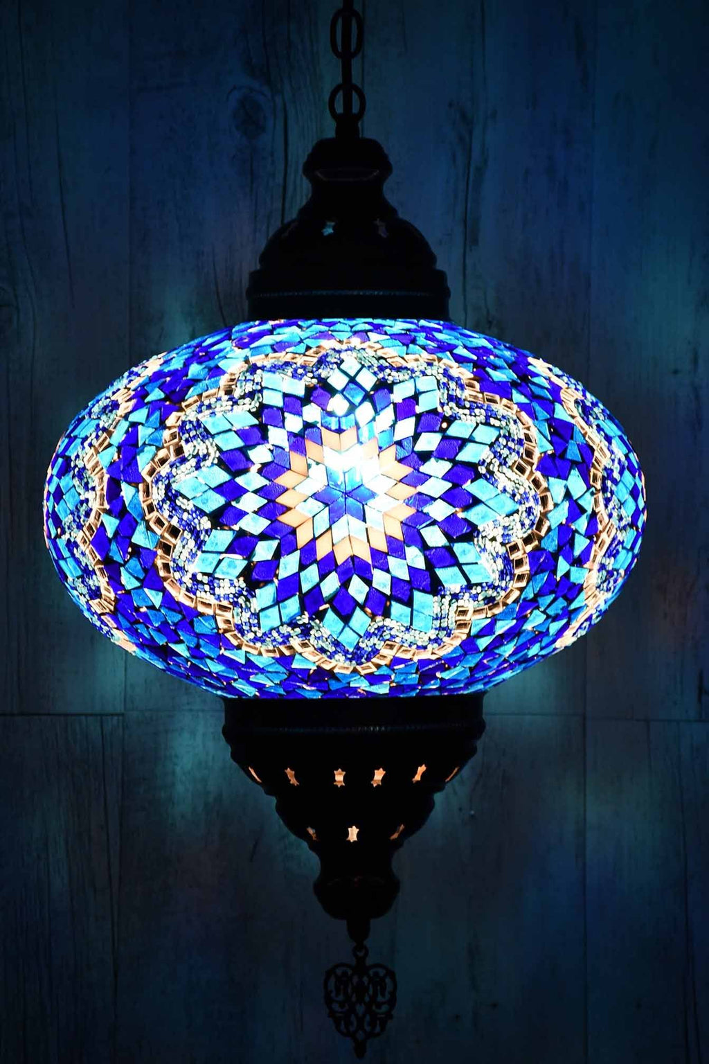 Turkish Pendant Light Blue Mosaic Star B5 Lighting Sydney Grand Bazaar