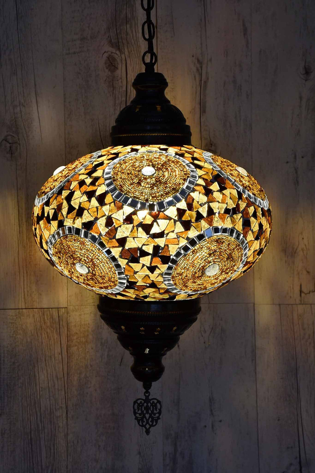 Turkish Pendant Light Brown Multi Circle B5 Lighting Sydney Grand Bazaar