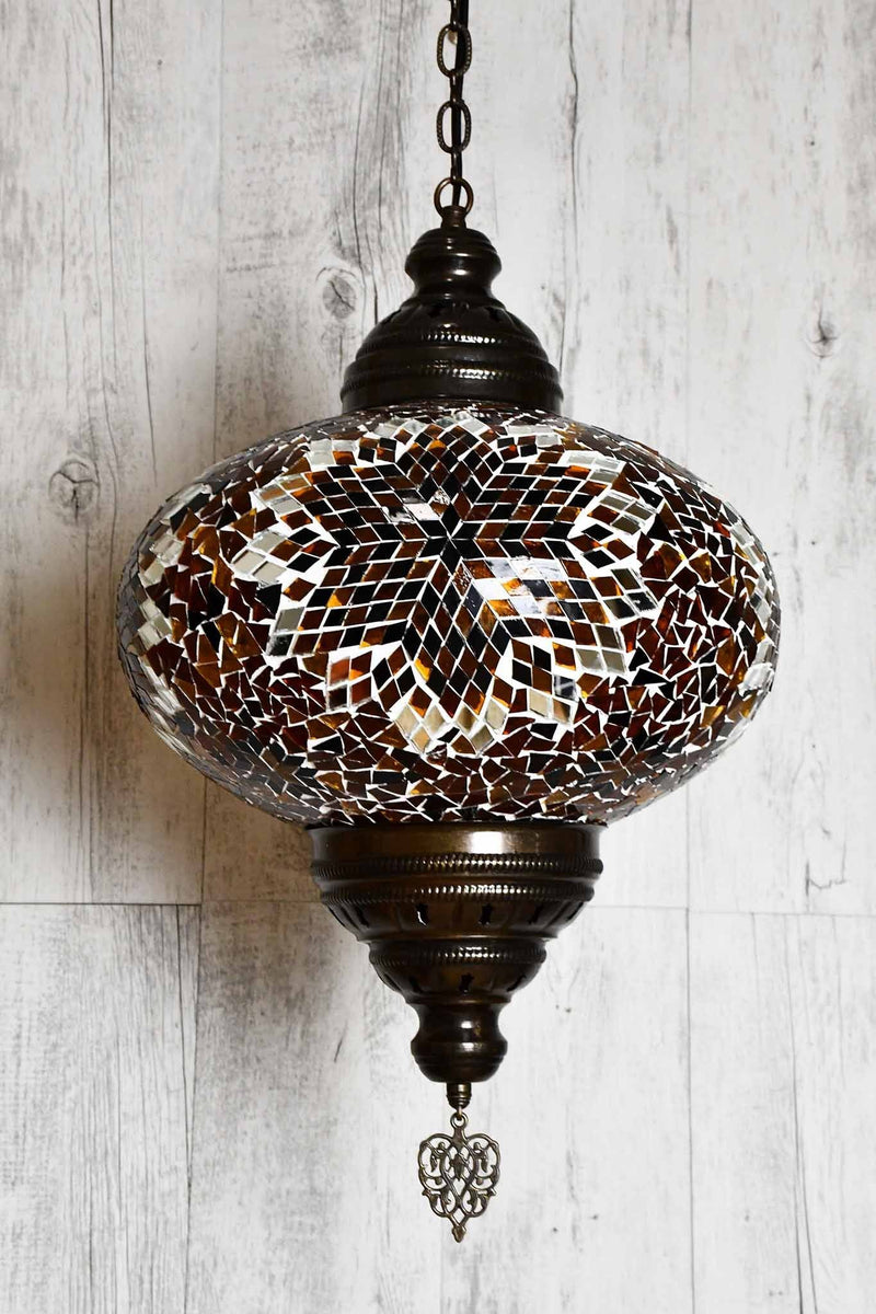 Turkish Pendant Light Brown Star B5 Lighting Sydney Grand Bazaar