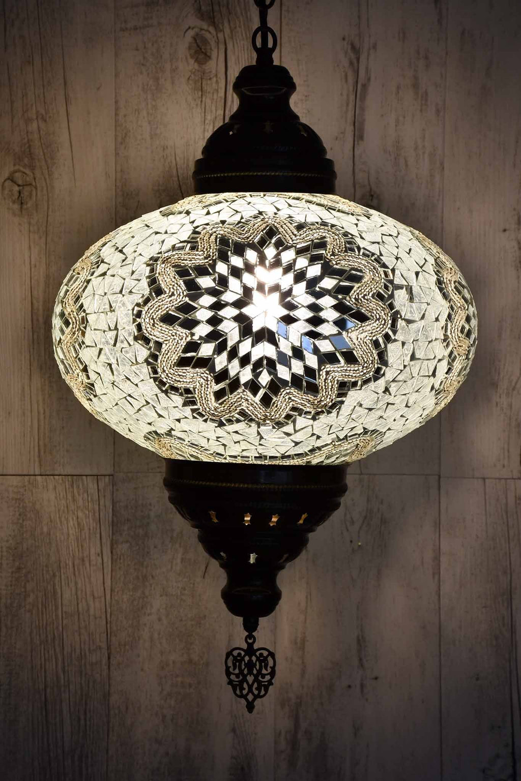 Turkish Pendant Light Clear Mosaic White B5 Lighting Sydney Grand Bazaar