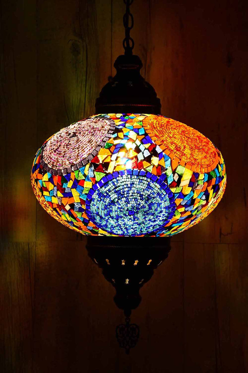 Turkish Pendant Light Multicoloured Circle Beads B5 Lighting Sydney Grand Bazaar