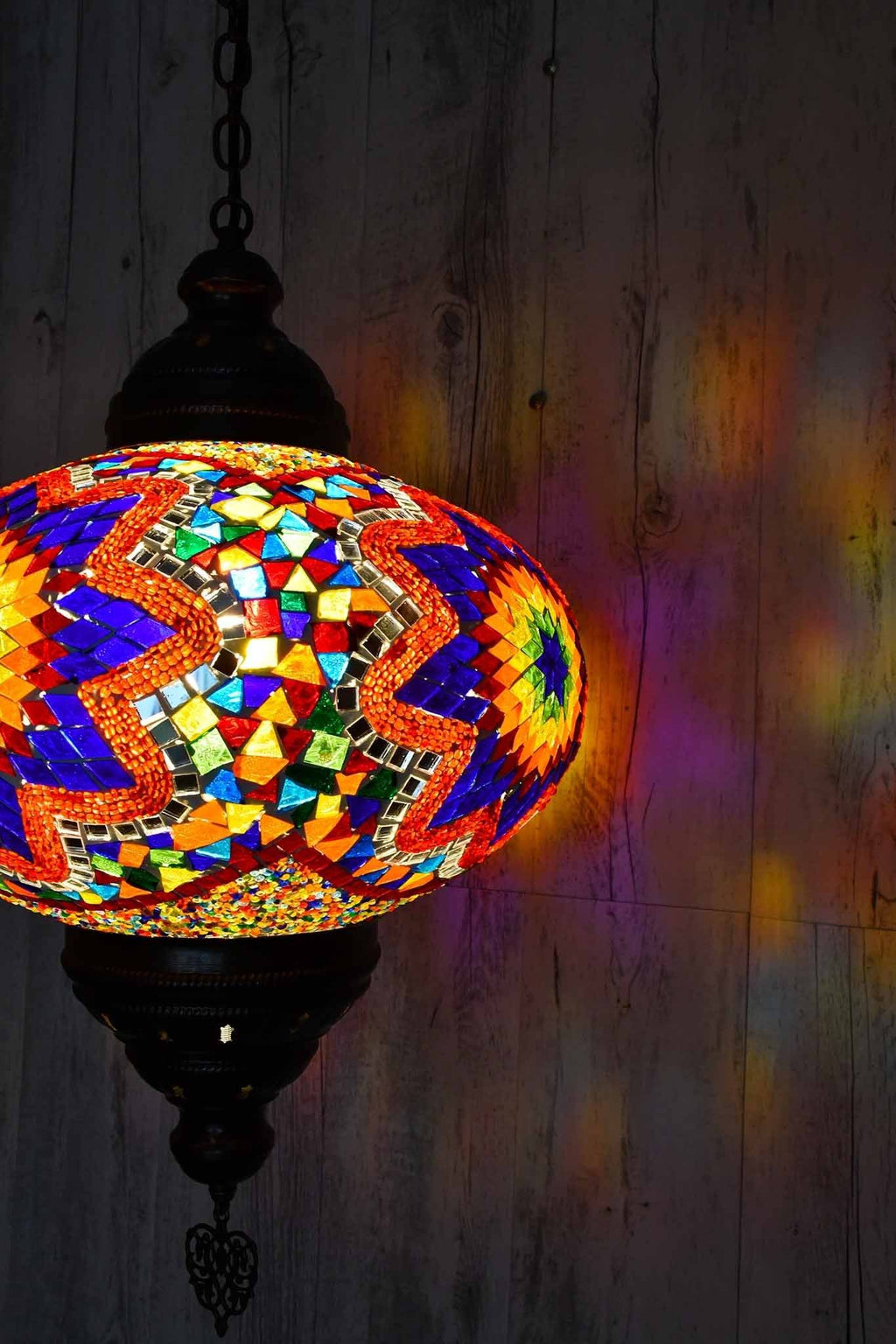 Turkish Pendant Light Multicoloured Mosaic Star B5 Lighting Sydney Grand Bazaar