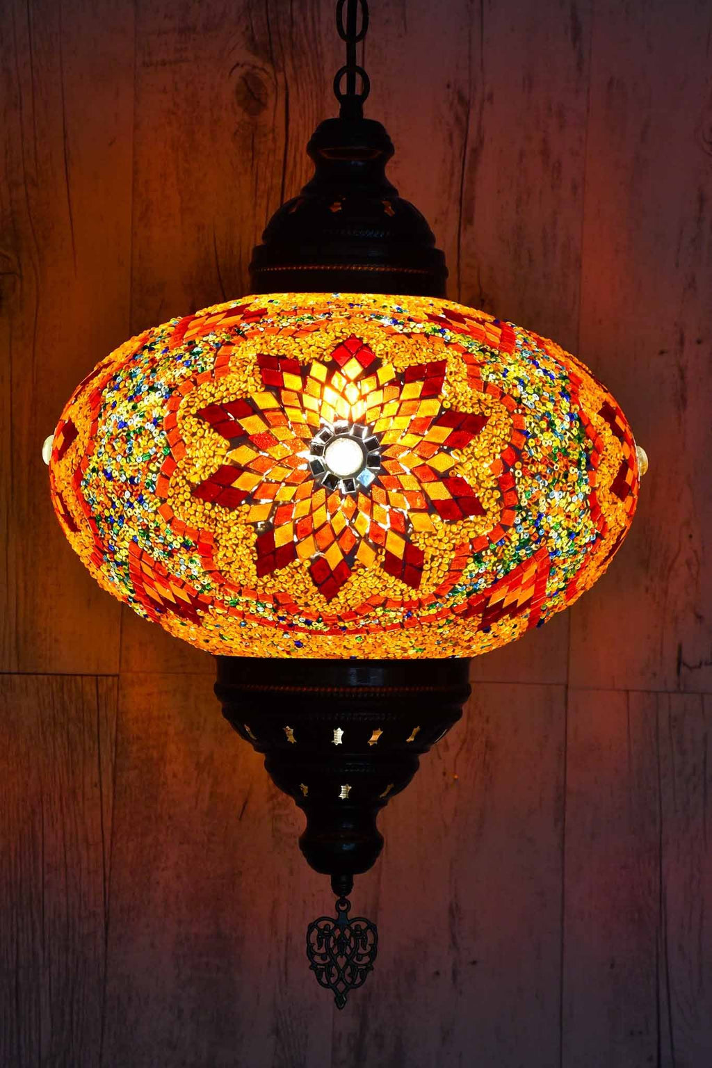 Turkish Pendant Light Multicoloured Orange B5 Lighting Sydney Grand Bazaar