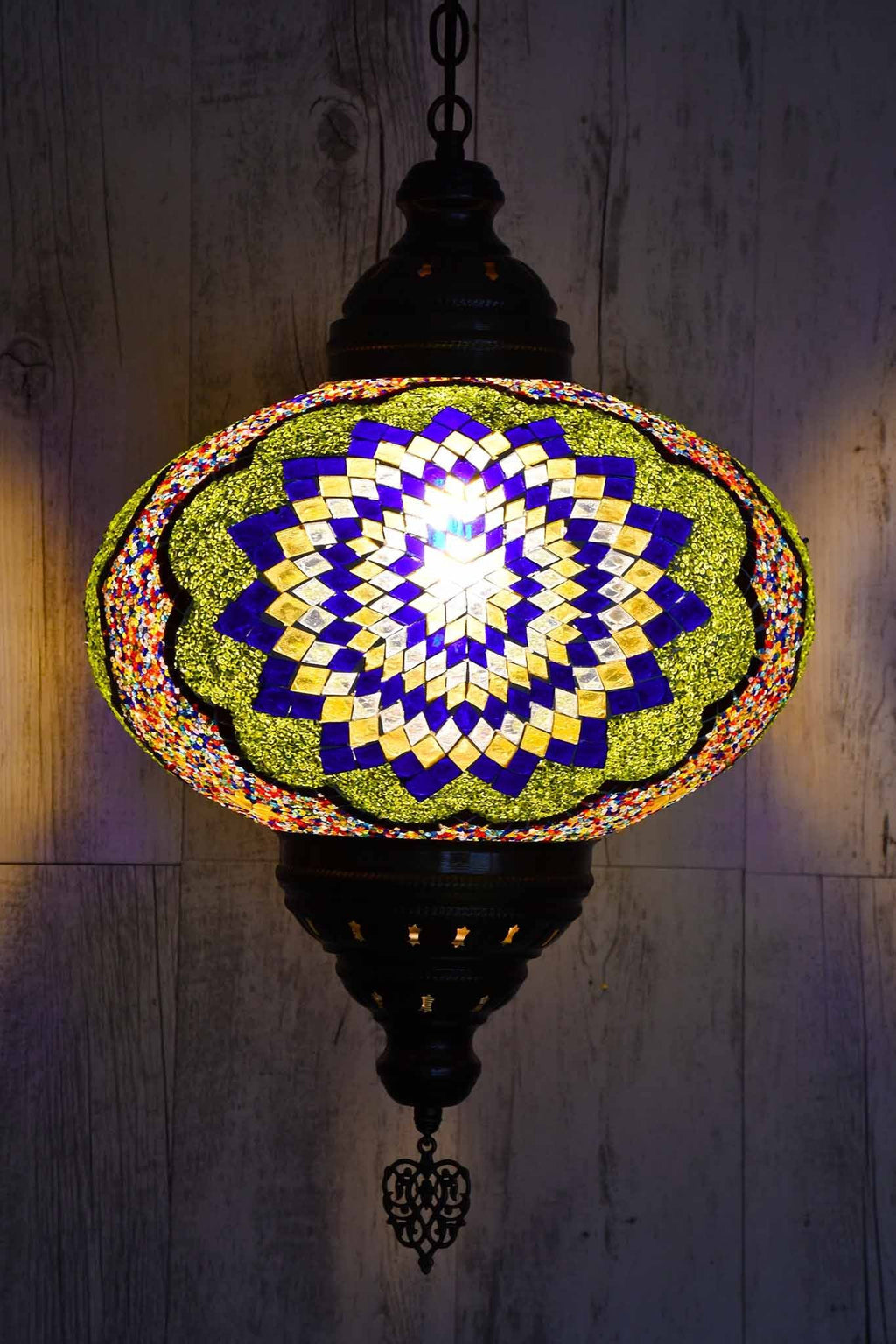 Turkish Pendant Light Multicoloured Round Beads B5 Lighting Sydney Grand Bazaar