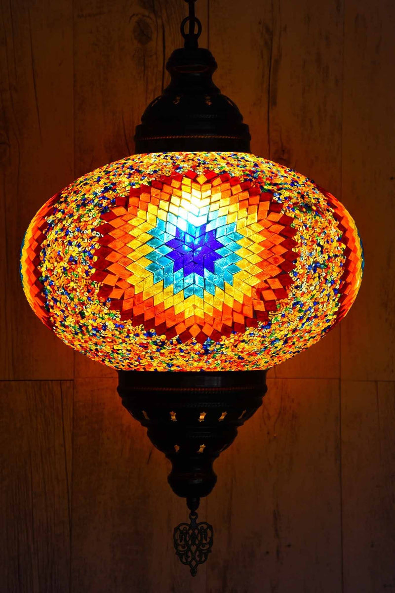 Turkish Pendant Light Multicoloured Star Beads B5 Lighting Sydney Grand Bazaar