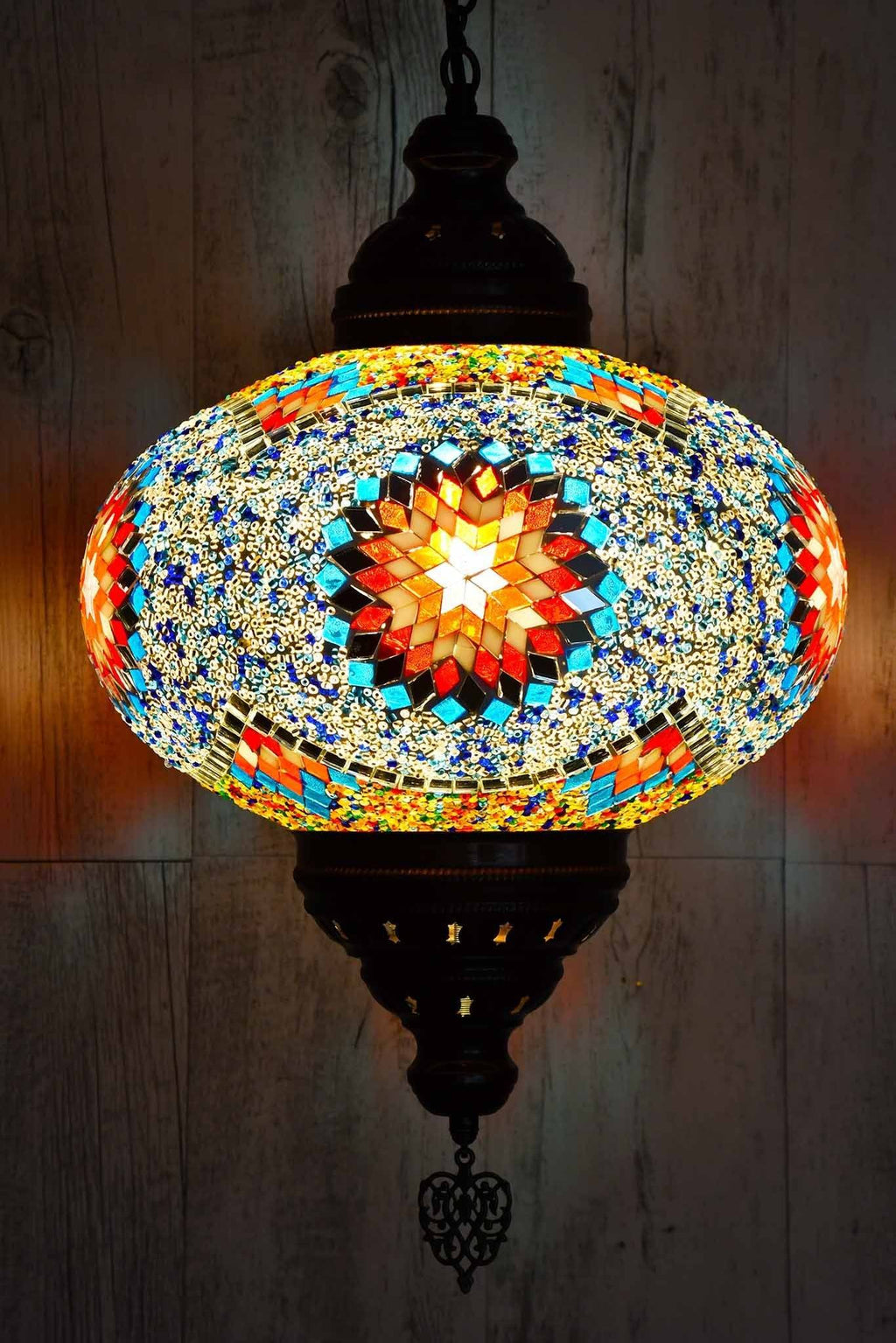 Turkish Pendant Light Multicoloured White Star B5 Lighting Sydney Grand Bazaar