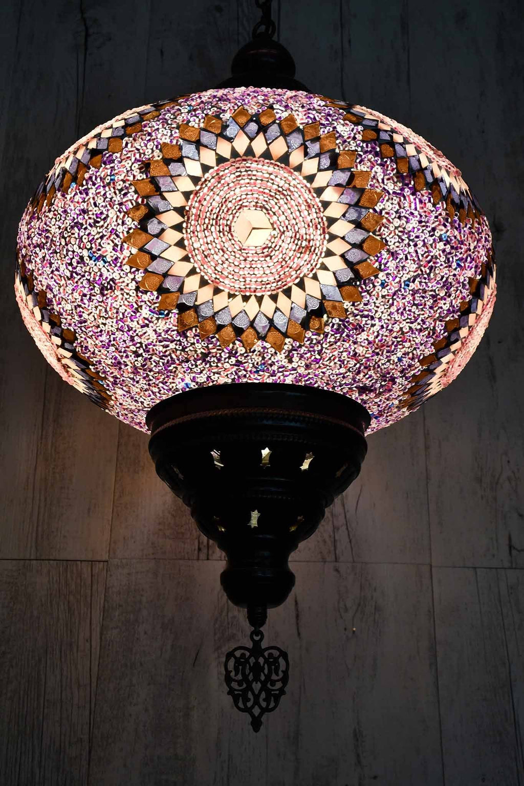 Turkish Pendant Light Purple Pink Circle B5 Lighting Sydney Grand Bazaar