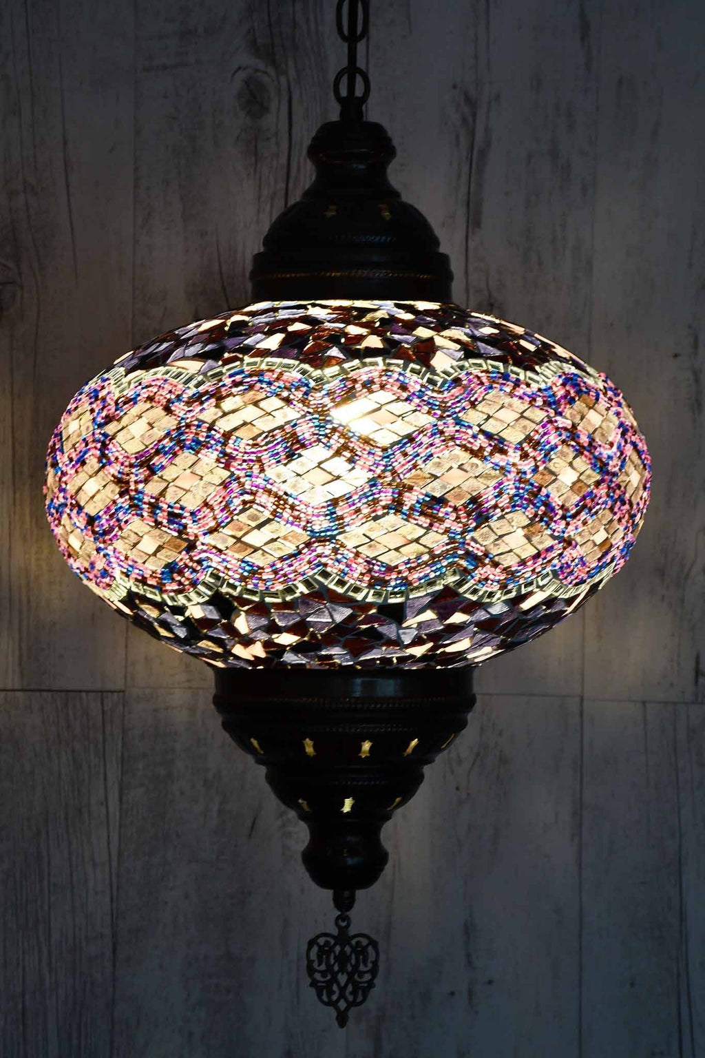 Turkish Pendant Light Purple Pink Kilim B5 Lighting Sydney Grand Bazaar