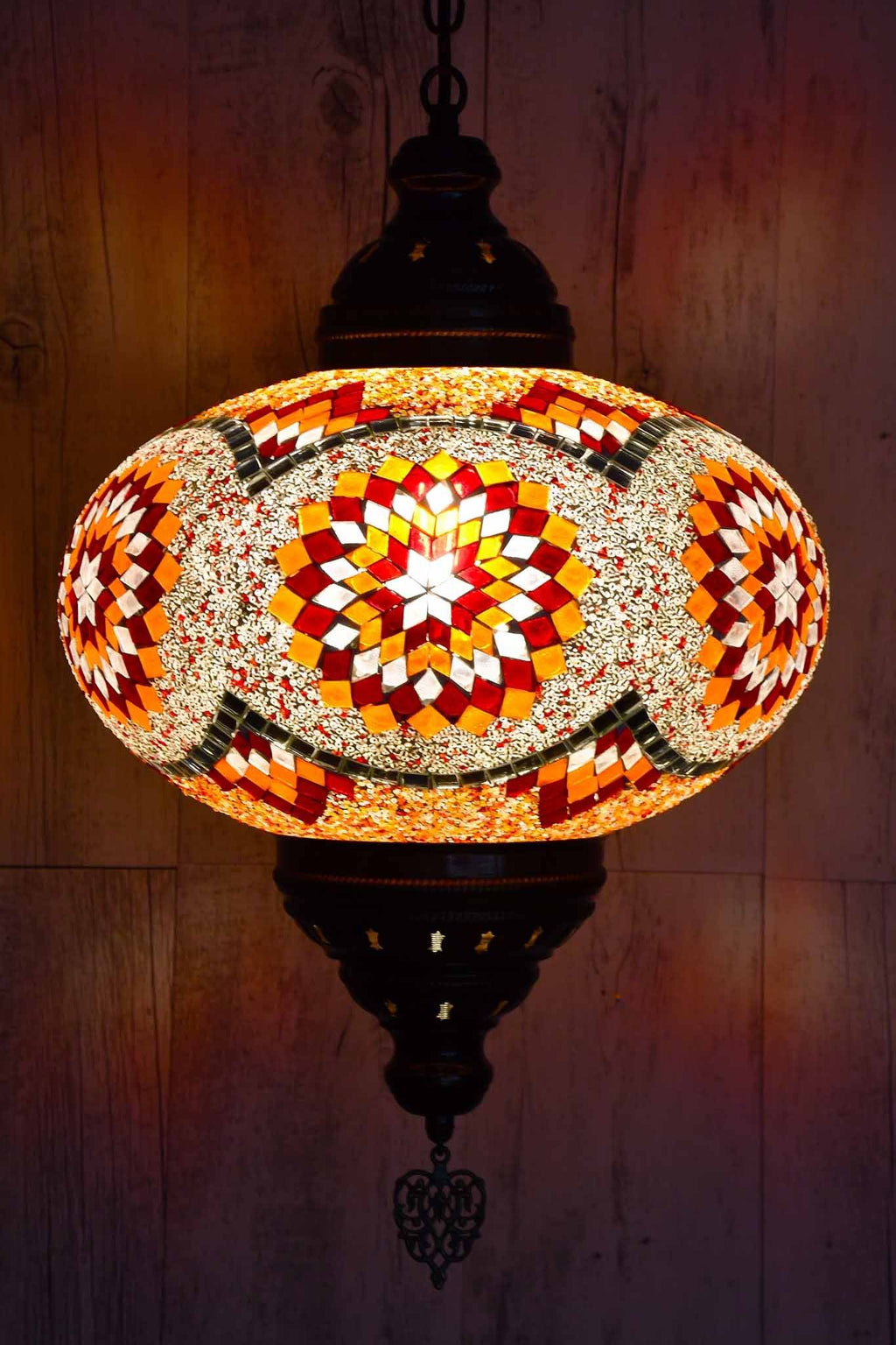 Turkish Pendant Light Red Orange Star B5 Lighting Sydney Grand Bazaar