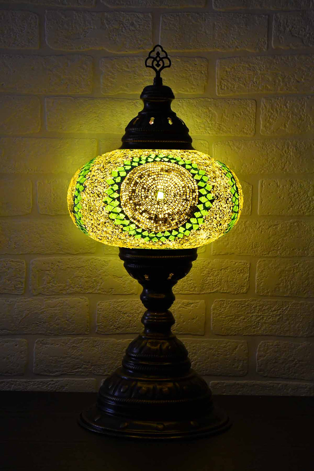 Turkish Table Lamp Large Lime Green Circle Lighting Sydney Grand Bazaar