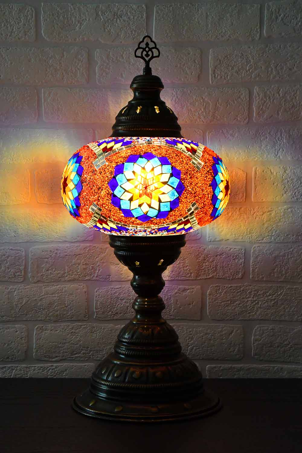 Turkish Table Lamp Large Multicoloured Red Beads Lighting Sydney Grand Bazaar