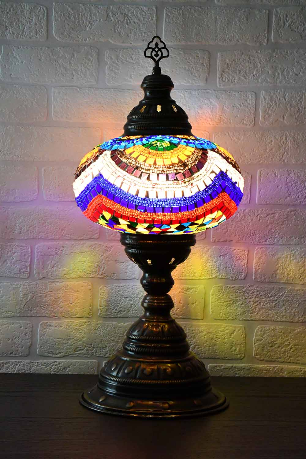 Turkish Table Lamp Large Multicoloured Signature Lighting Sydney Grand Bazaar