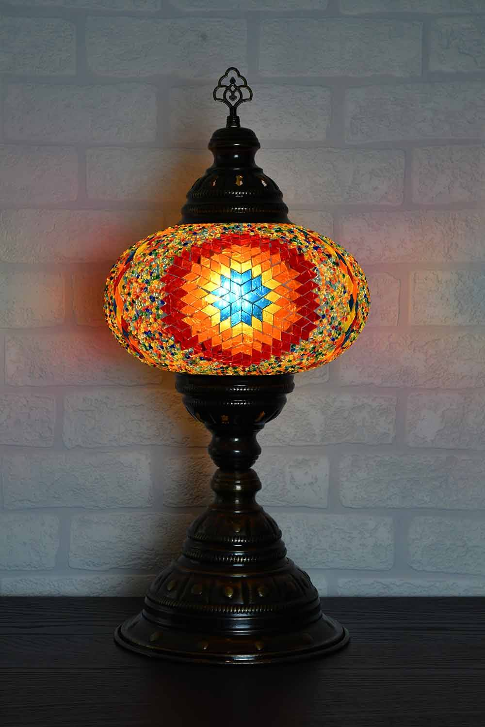 Turkish Table Lamp Large Multicoloured Star Beads Lighting Sydney Grand Bazaar