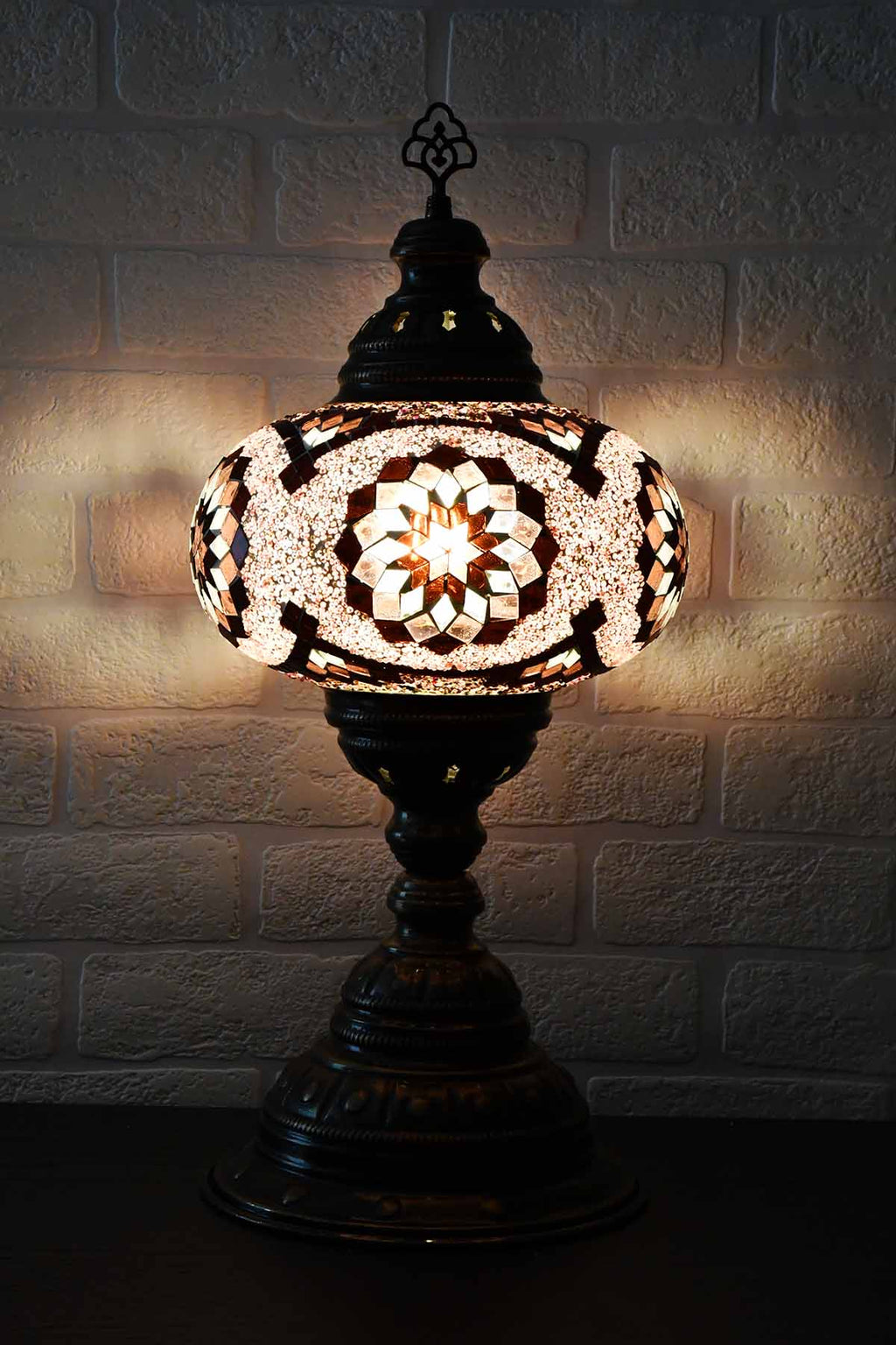 Turkish Table Lamp Large Purple Diamond Star Lighting Sydney Grand Bazaar