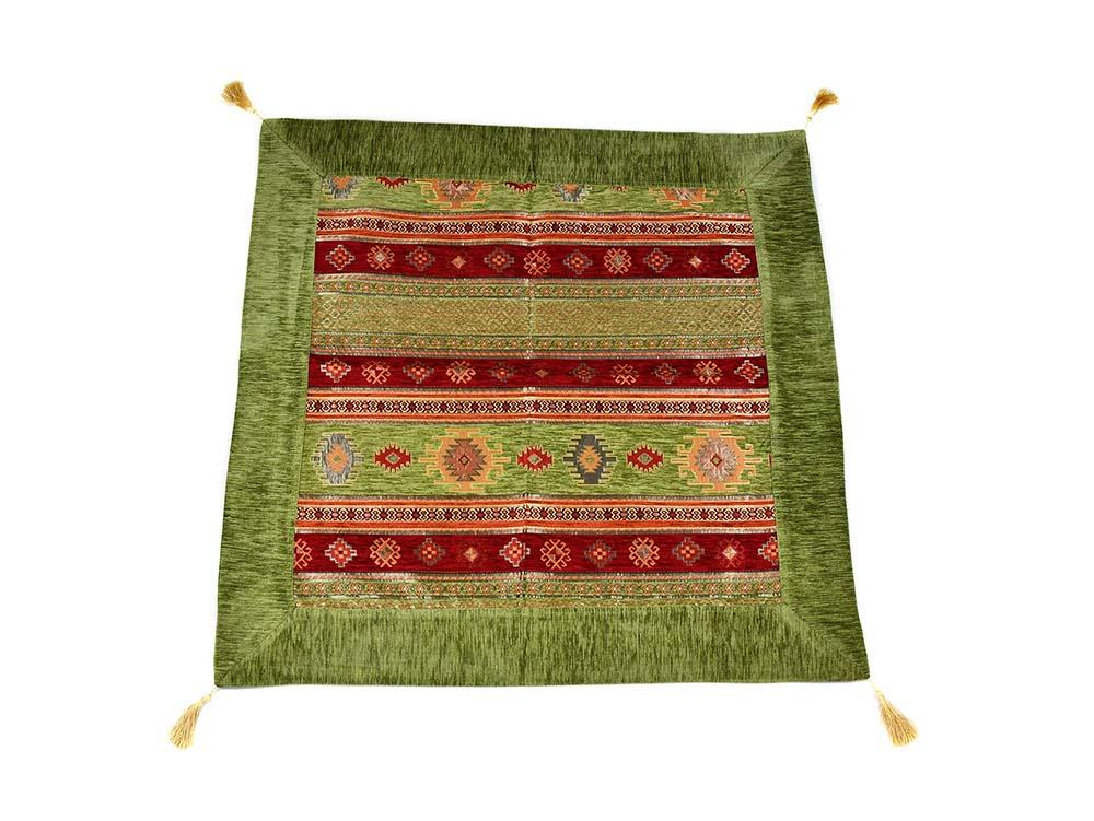 Turkish Tablecloth Aztec, Light Green Red Textile Sydney Grand Bazaar