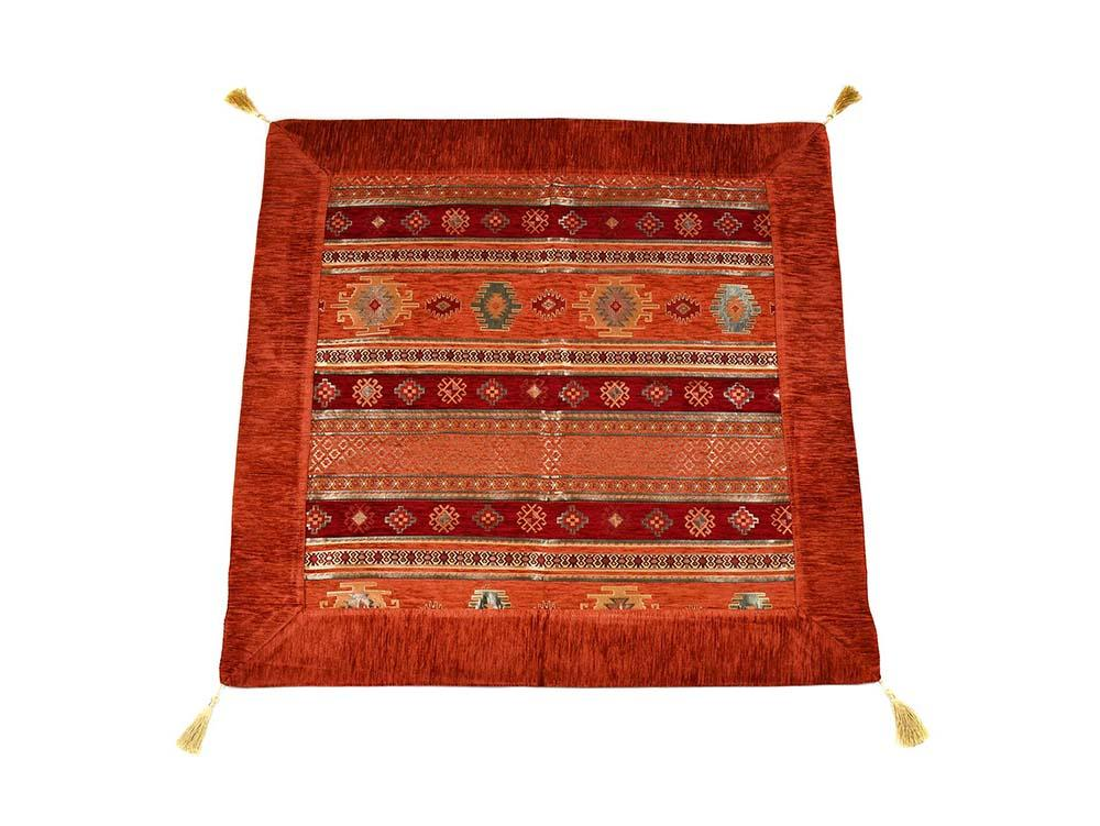 Turkish Tablecloth Aztec, Rusty Orange Red Textile Sydney Grand Bazaar