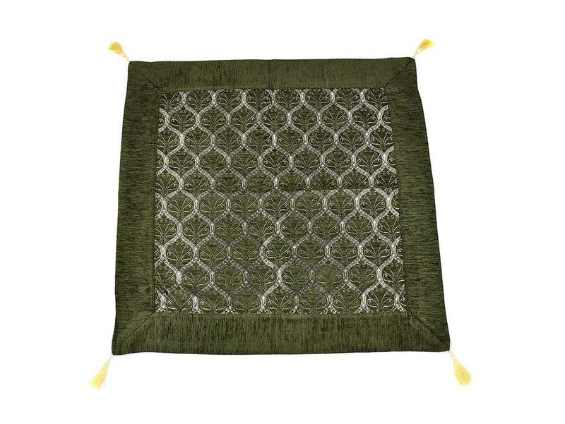 Turkish Tablecloth Traditional Collection Dark Green Textile Sydney Grand Bazaar 90cm x 90cm