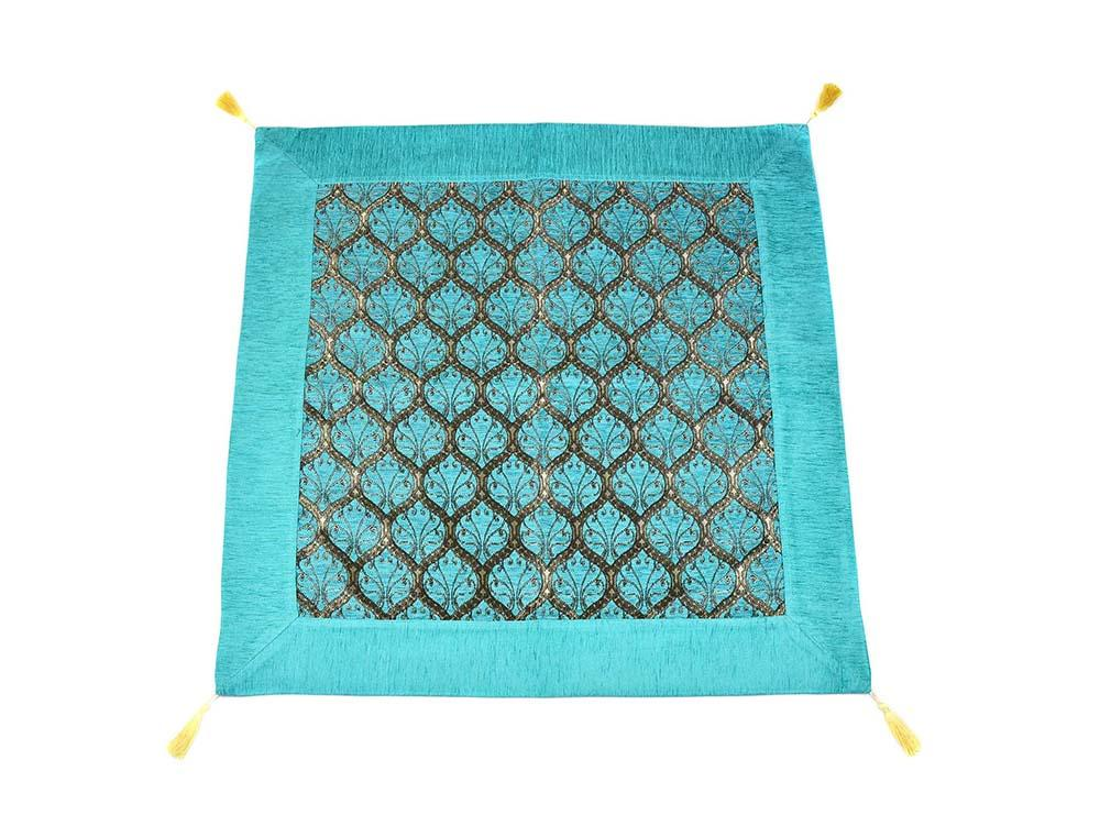 Turkish Tablecloth Traditional Collection Turquoise Textile Sydney Grand Bazaar 90cm x 90cm