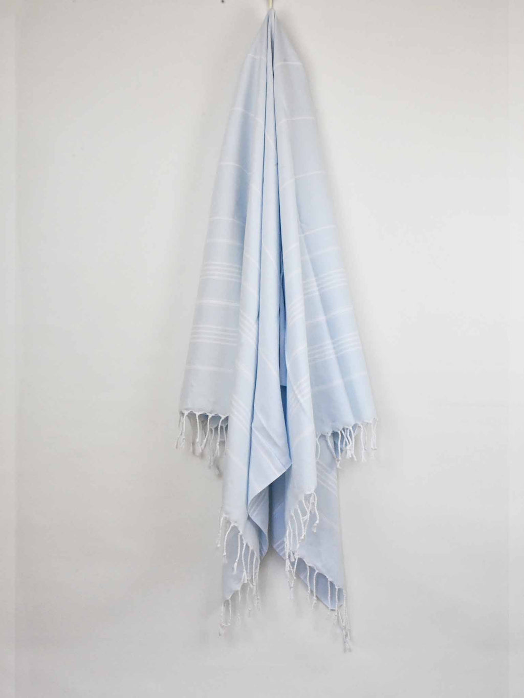 Turkish Towel Classic Striped Baby Blue Turkish Towel Sydney Grand Bazaar