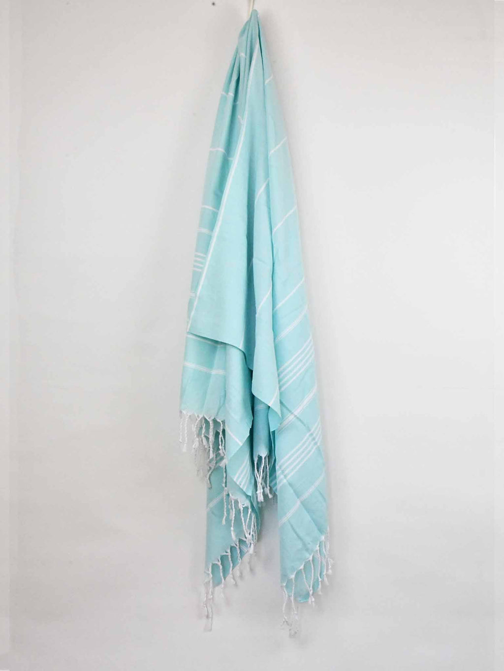 Turkish Towel Classic Striped Mint Green Turkish Towel Sydney Grand Bazaar