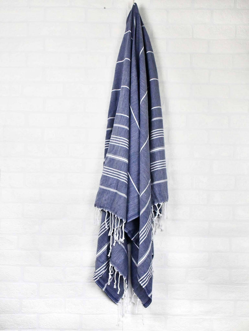 Turkish Towel Classic Striped Teal