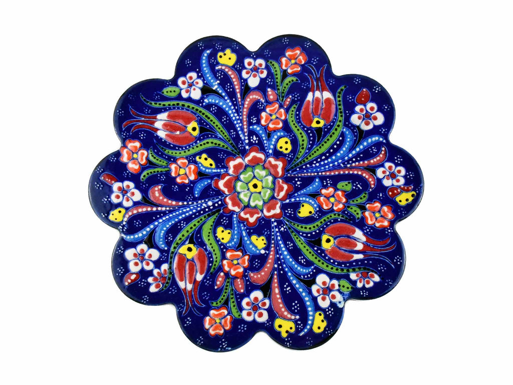 Turkish Trivet Flower Collection Blue Ceramic Sydney Grand Bazaar 1