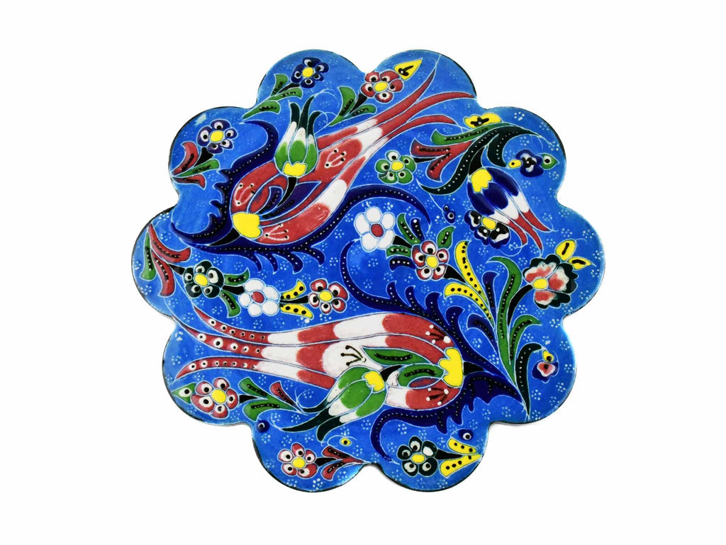 Turkish Trivet Flower Collection Light Blue Ceramic Sydney Grand Bazaar 1