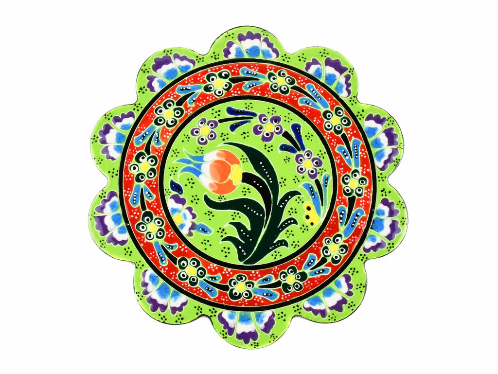Turkish Trivet Flower Collection Light Green Ceramic Sydney Grand Bazaar 1