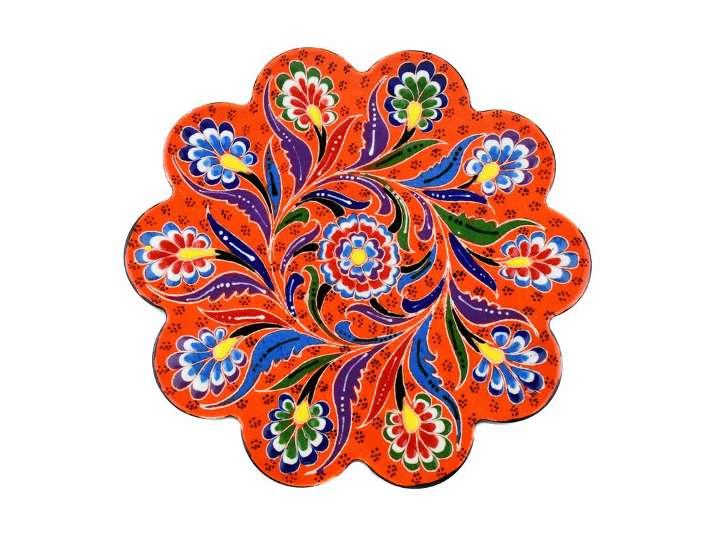 Turkish Trivet Flower Collection Orange Ceramic Sydney Grand Bazaar 1