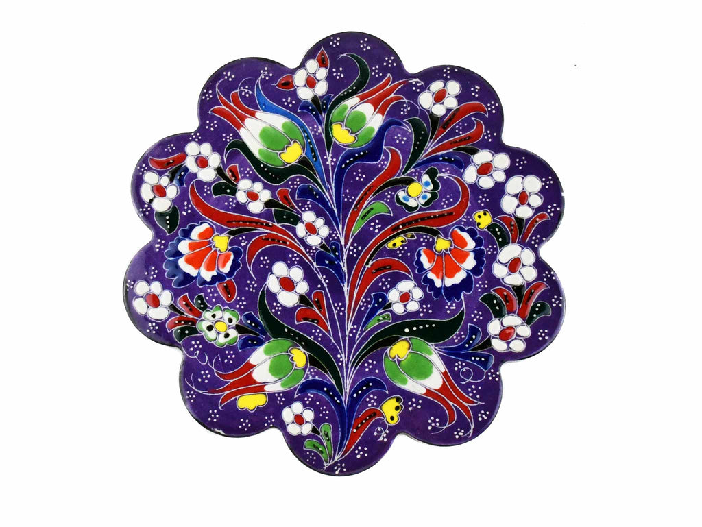 Turkish Trivet Flower Collection Purple Ceramic Sydney Grand Bazaar