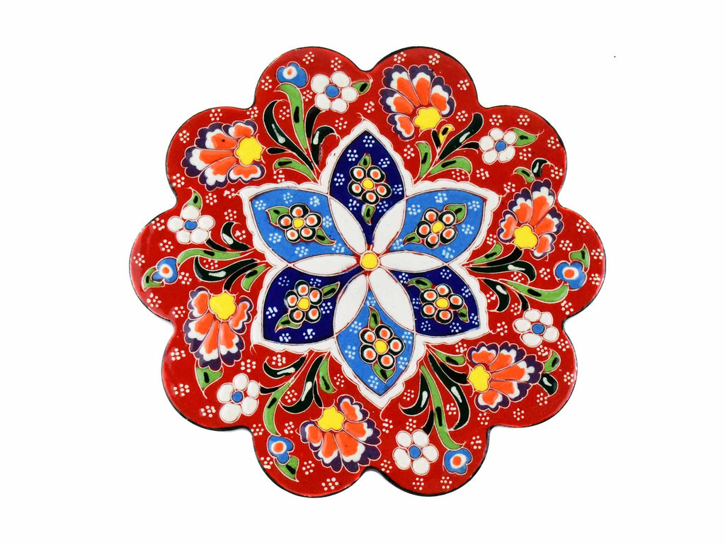 Turkish Trivet Flower Collection Red Ceramic Sydney Grand Bazaar 1