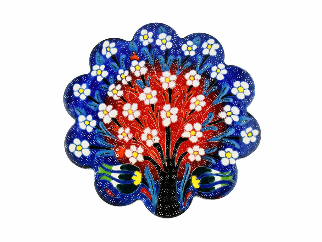 Turkish Trivet Flower Collection Two Tone Blue Ceramic Sydney Grand Bazaar 1