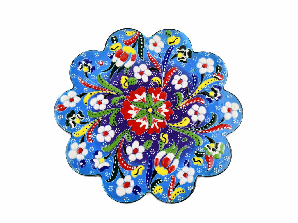 Turkish Trivet Flower Collection Two Tone Light Blue Ceramic Sydney Grand Bazaar 1