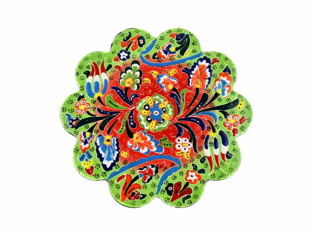 Turkish Trivet Flower Collection Two Tone Light Green Ceramic Sydney Grand Bazaar 1