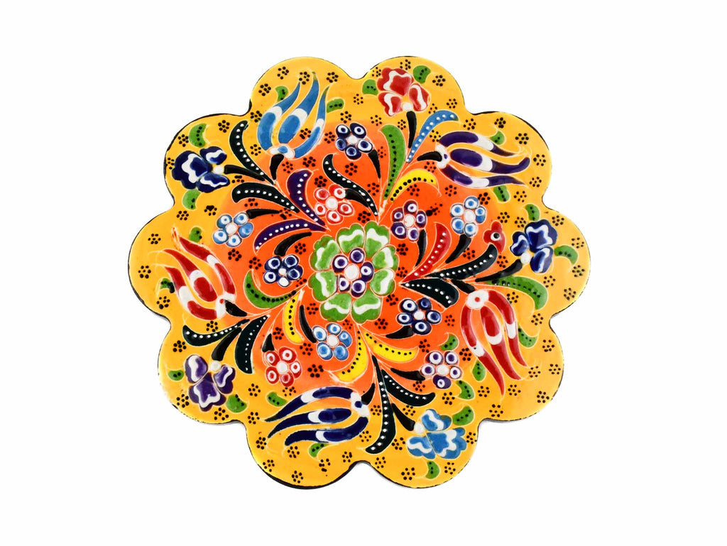 Turkish Trivet Flower Collection Two Tone Yellow Ceramic Sydney Grand Bazaar 1