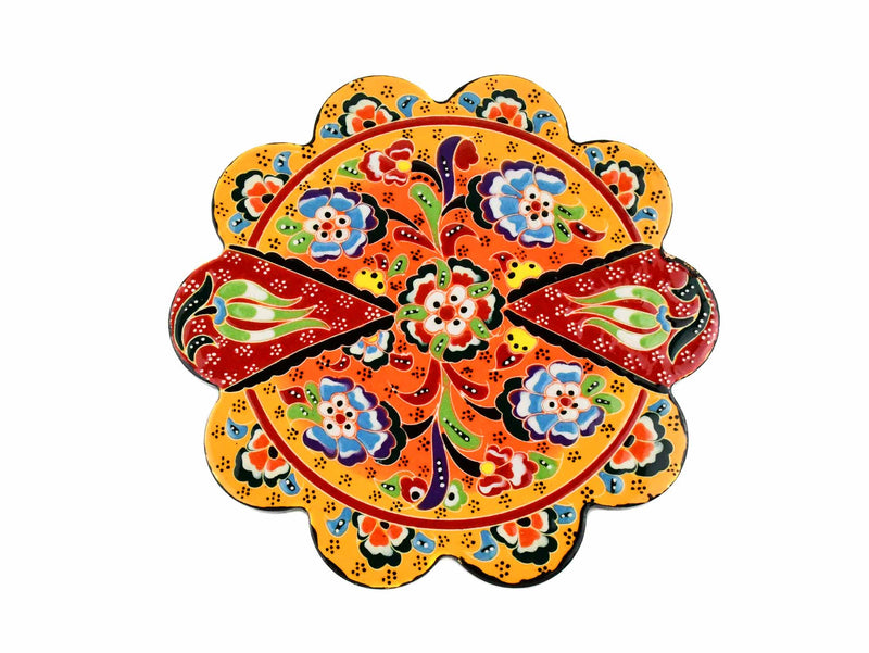 Turkish Trivet Flower Collection Two Tone Yellow Ceramic Sydney Grand Bazaar 5