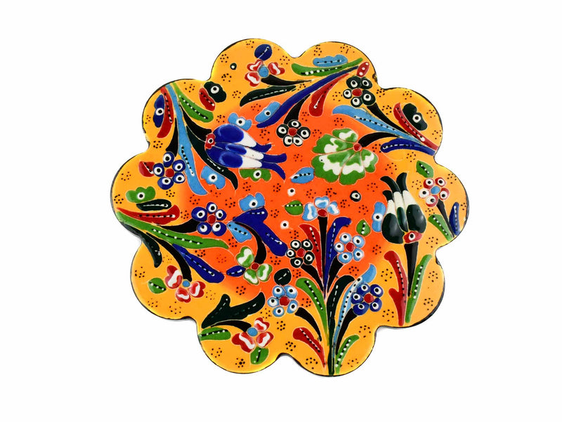 Turkish Trivet Flower Collection Two Tone Yellow Ceramic Sydney Grand Bazaar 2