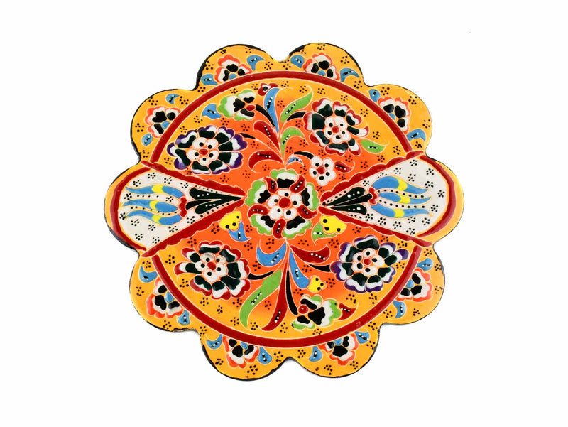 Turkish Trivet Flower Collection Two Tone Yellow Ceramic Sydney Grand Bazaar 4