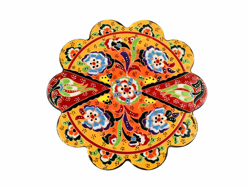 Turkish Trivet Flower Collection Two Tone Yellow Ceramic Sydney Grand Bazaar 7