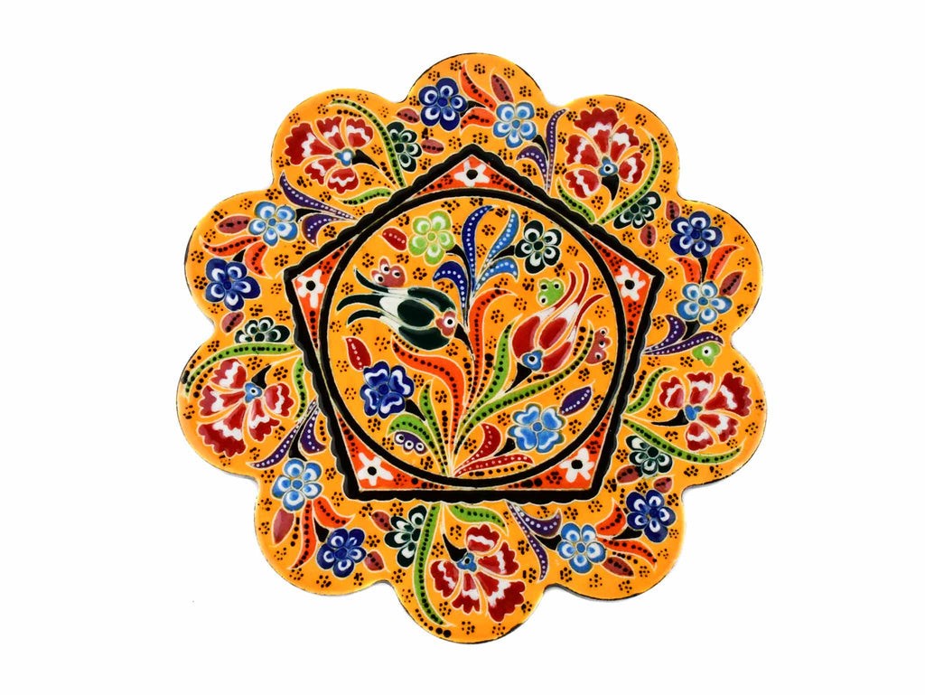 Turkish Trivet Flower Collection Yellow Ceramic Sydney Grand Bazaar 1