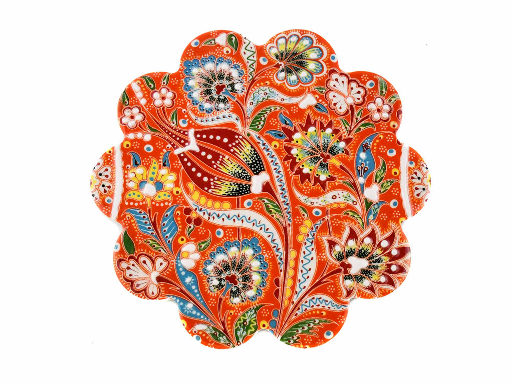 Turkish Trivet Ottoman Flower Collection Orange Ceramic Sydney Grand Bazaar 1