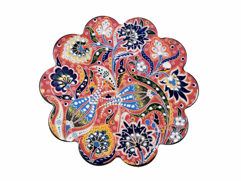 Turkish Trivet Ottoman Flower Collection Pink Ceramic Sydney Grand Bazaar 1