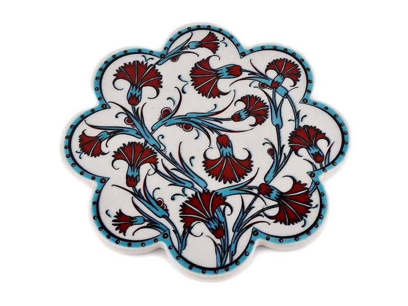 Turkish Trivet Traditional Iznik Design 30 Ceramic Sydney Grand Bazaar