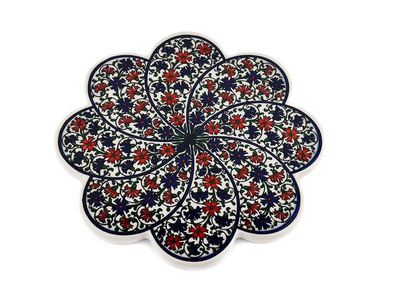 Turkish Trivet Traditional Iznik Design 36 Ceramic Sydney Grand Bazaar