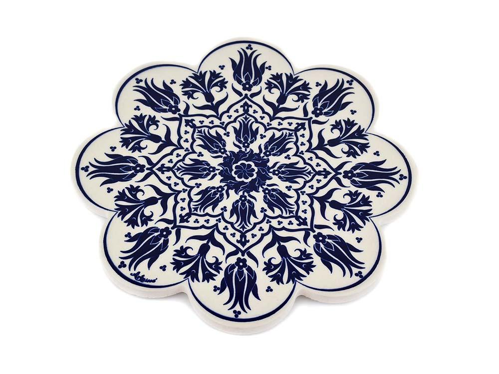 Turkish Trivet Traditional Iznik Design 4 Ceramic Sydney Grand Bazaar
