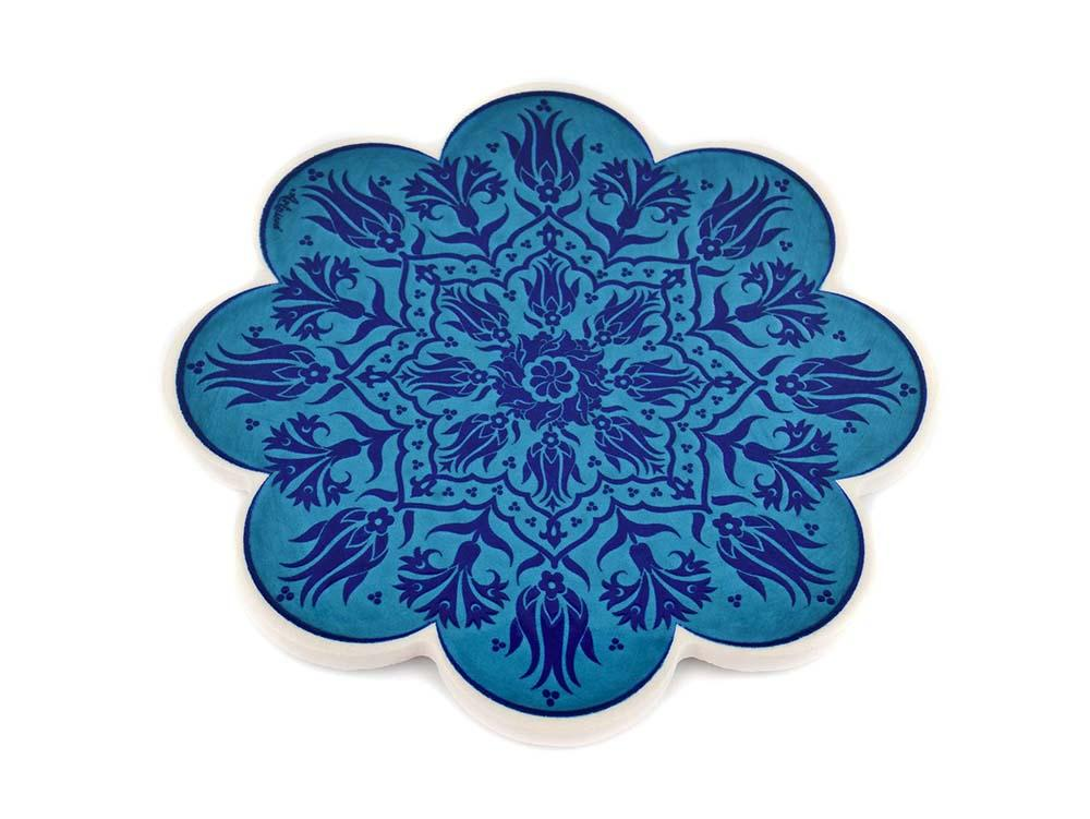 Turkish Trivet Traditional Iznik Design 5 Ceramic Sydney Grand Bazaar